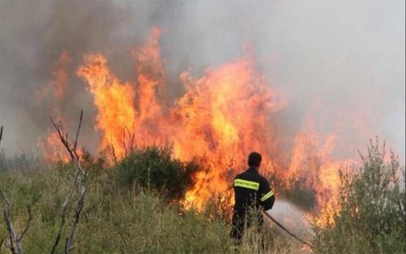 Φωτιά σε σιτοκαλαμιές και σκουπίδια δίπλα στο αεροδρόμιο Αγχιάλου