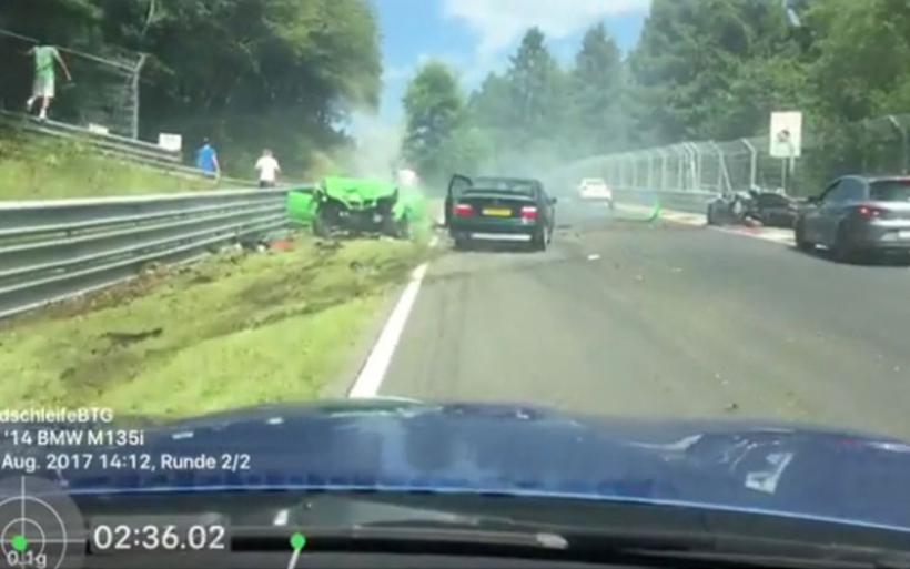 Video από το χάος στη φημισμένη πίστα του Nurburgring