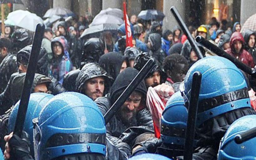 Ιταλία: Σοβαρά επεισόδια μέσα και έξω από την γερουσία