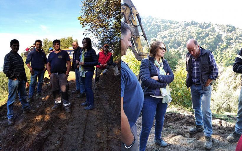 Επίσκεψη Κ. Παπανάτσιου στις πληγείσες από την πρόσφατη κακοκαιρία περιοχές του Δ. Ζαγοράς Μουρεσίου