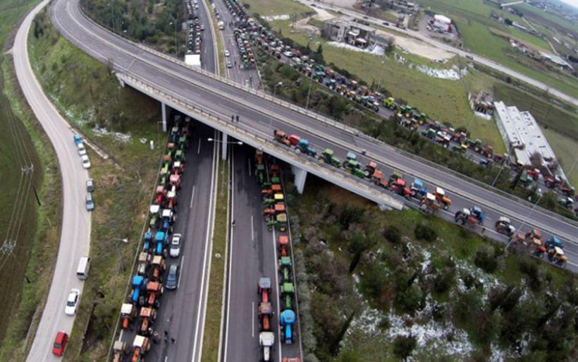 Κυκλοφοριακές ρυθμίσεις λόγω αγροτικών κινητοποιήσεων στη νέα Εθνική Οδό Λάρισας - Κοζάνης