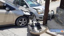 Τροχαίο ατύχημα μετά από παραβίαση STOP στον Αλμυρό (φωτογραφίες)