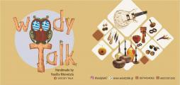"""Πρόσκληση εγκαινίων του """"Woody Talk Handmade Wooden Jewellery & Art"""" στην κεντρική πλατεία Αλμυρού"""