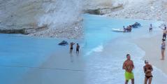"""Πανικός στην παραλία """"Ναυάγιο"""" της Ζακύνθου"""