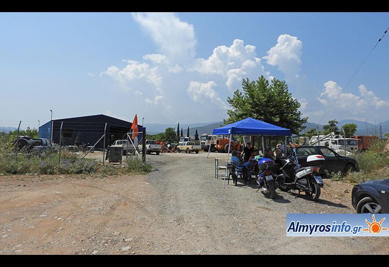 Σε κατάληψη το αμαξοστάσιο του Δήμου Αλμυρού από τα ξημερώματα