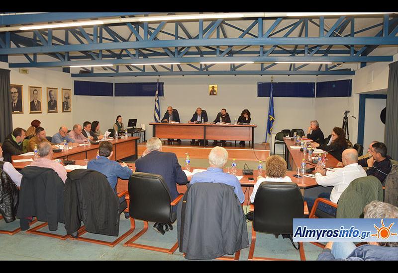 Συνεδριάζει την Τετάρτη 30/9 το δημοτικό συμβούλιο Αλμυρού