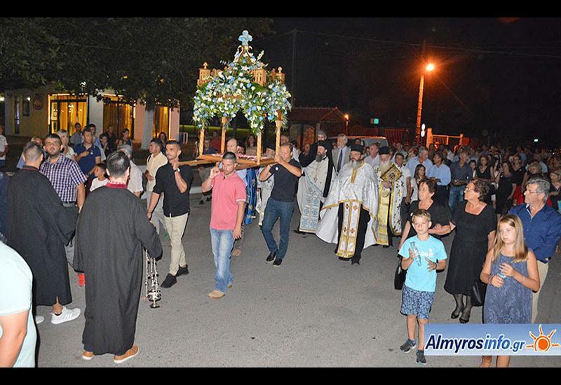 Πλήθος πιστών για τη Γιορτή της Κοιμήσεως της Θεοτόκου στην Ευξεινούπολη (βίντεο&φωτο)