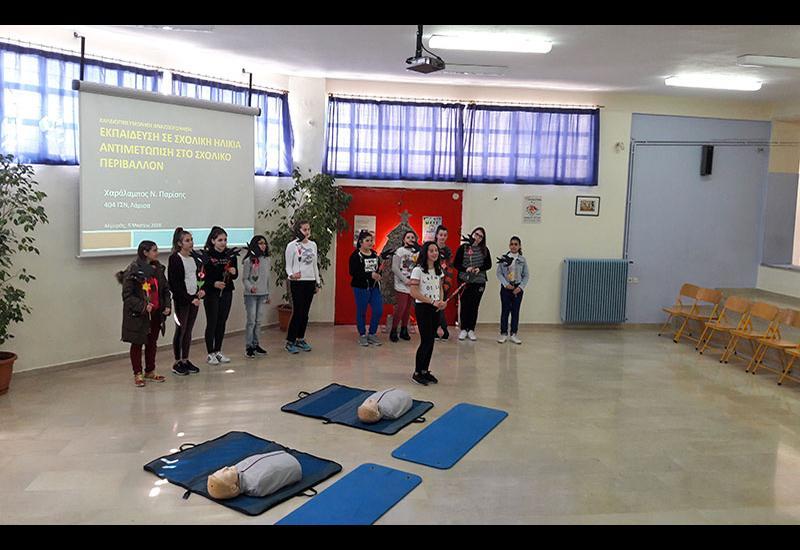 Επιμόρφωση εκπαιδευτικών Γυμνασίων 2ου Αλμυρού, Σούρπης & Ευξεινούπολης στην  «Καρδιοπνευμονική Αναζωογόνηση»
