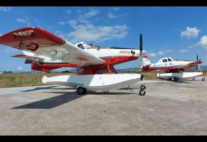 Νέα αεροσκάφη πυρόσβεσης στη Νέα Αγχίαλο (photos)